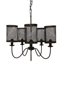 "Tuscany Black Copper Chandelier 26""d x 23""h"