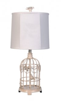 Bird Cage (Antique White) w/ Silhouette Shade