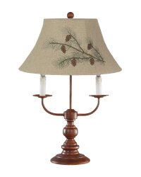 Bayfield Table Lamp Brown Pinecone Shade