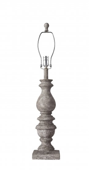 Bishop Grey 31 Table Lamp Base Only L1968gy Wholesale Lamps