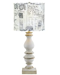 "Bishop White 31"" Table Lamp with Sea Side Shade"