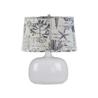 "White Spa Glass 24"" Table Lamp, Seaside Shade"