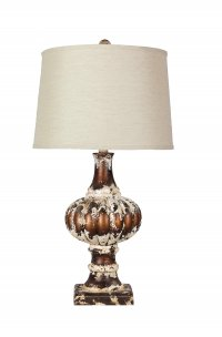 "Parma 29"" Table Lamp with Tussah Flax Shade"