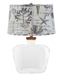 Clearview Fillable Table Lamp, Seaside Smoke Shade