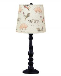 "Townsend Black 21"" Table Lamp, Piggy and Friends"