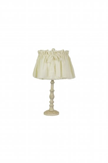 Well-liked Townsend Distressed White 21 Table Lamp, Shabby Chic Shade  SC89