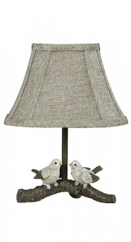 "Birds On Branch 12"" Accent Lamp with Shade"