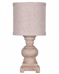 "Monte Distressed White 13"" Accent Lamp & Shade"