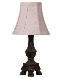 "Mini French Dk Grey 12"" Accent Lamp"