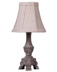 "Mini French Light Grey 12"" Accent Lamp"