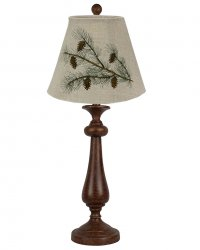 Lexington Brown Table Lamp, Desized Natural Linen Shade