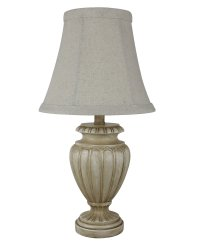 "Crete Antique White 14"" Accent Lamp"