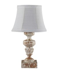 Luxembourg Distressed White Accent Lamp