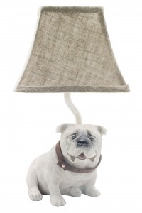 "Tank the Bull Dog 12""Accent Lamp"