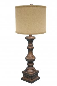 "Austin 29"" Table Lamp Brown, Jefferson Linen Shade"