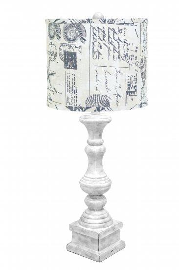 Austin 29 table lamp antique white seaside smoke shade l2705wh u2 larger image aloadofball Images