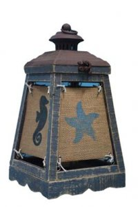 "Cape Lantern Blue 13"" Accent Lamp"