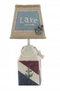 "Red, White, Blue Buoy Lake 14"" Accent Lamp"