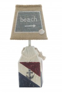 "Red, White, Blue Buoy Beach 14"" Accent Lamp"