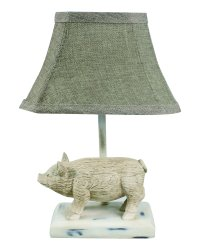 "Wilbur The Pig White 12"" Accent Lamp"