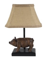 "Wilbur The Pig Brown 12"" Accent Lamp"