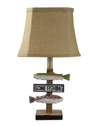 "Gone Fishing 19.5"" Table Lamp"