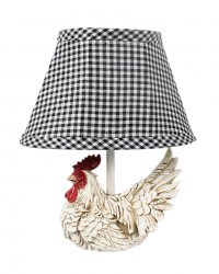 Mini White Rooster Accent Lamp