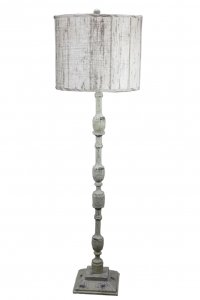 "Harlan 60"" Floor Lamp with Plank Shade"