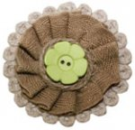 Burlap App with Green Button Magnet
