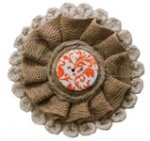 Burlap App Orange Button Magnet