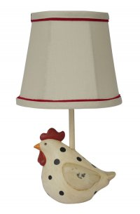 "Big Fat Hen Polka Dot 12"" Accent Lamp"