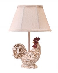 Chante Claire Accent Rooster Lamp