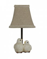 "Feathered Friends 12"" Accent Lamp"