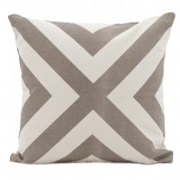 Pillow Cross Taupe 18x18