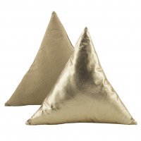 Triangle Pillow Gold Foil 18x18x18