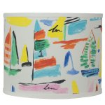 "Colorful Sailboats 12"" Drum Shade"