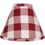 "Buffalo Check Barn Red 16"" Empire Shade"