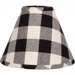 "Buffalo Check Black 16"" Empire Shade"