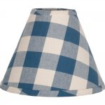 "Buffalo Check Colonial Blue 16"" Empire Shade"