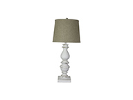 "Bishop White 31"" Table Lamp, Jefferson Linen Shade"