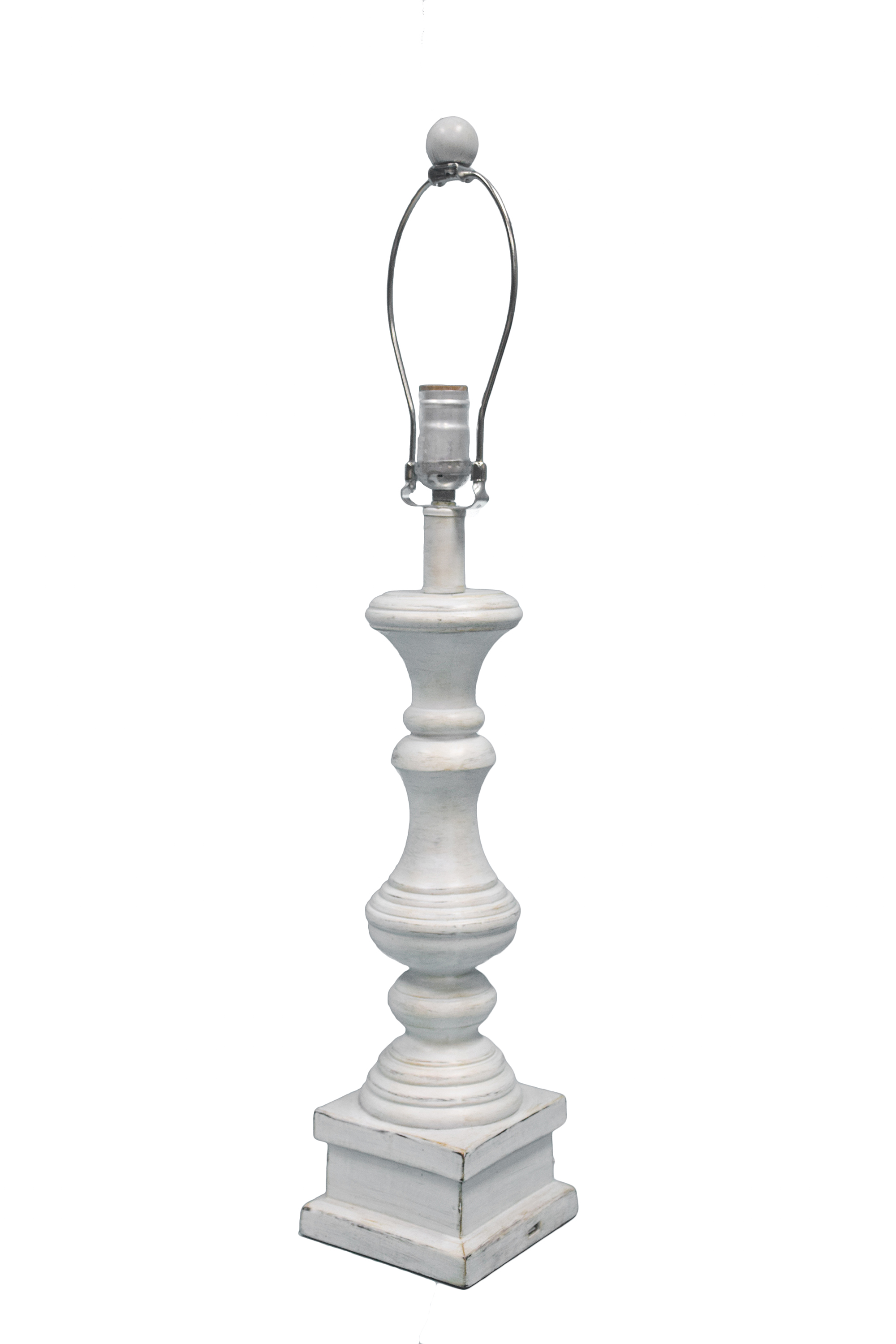 Austin 27 table lamp base antique white l2705aw for Lamp shades austin