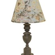 Copen Fleurie Table Lamp with Dusty Rose Shade