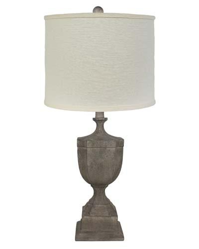 St Petersburg Light Grey 26 Table Lamp Buff Drum Shade L2211LG