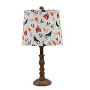 "Townsend Brown 21"" Table Lamp with Tossed Farm Shade"