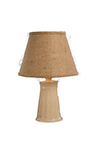 "Cookie Ceramic Ivory Gloss 21"" Table Lamp with Shade"