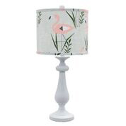 "Lexington White 26.5"" Table Lamp with Flamingo Ringo Shade"