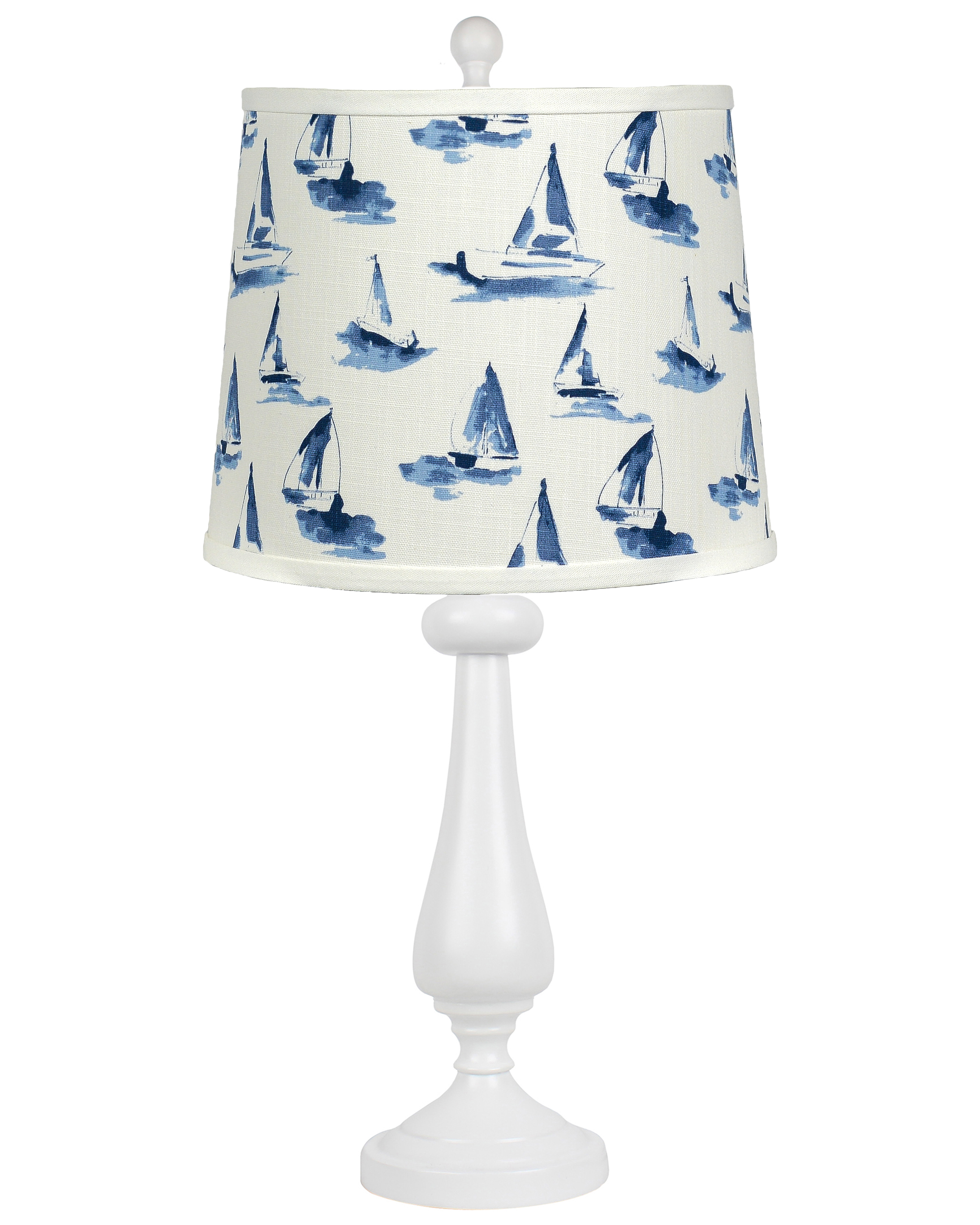 "Lexington White 26.5"" Table Lamp with Sea View Sky Shade"