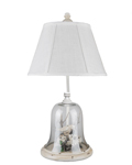 Birds In Cloche Accent Lamp