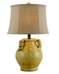 Gruyere Ceramic Urn Table Lamp with Shade
