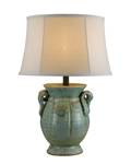St. Tropez Blue Ceramic Table Lamp